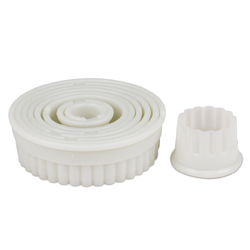 Fluted Round Cutter Set - 9 Piece