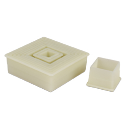 Plain Square Cutter Set - 9 Piece