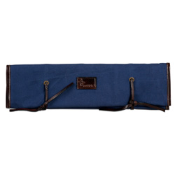 Boldric Blue Canvas Knife Roll - 8 Pockets