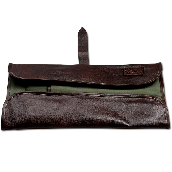 boldric brown leather knife roll with 8 pockets. Black Bedroom Furniture Sets. Home Design Ideas