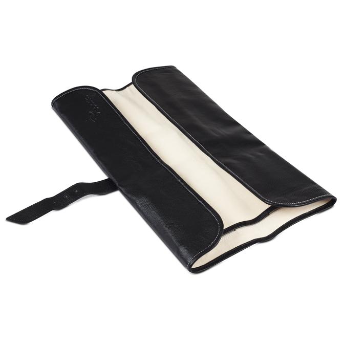 boldric leather knife roll black. Black Bedroom Furniture Sets. Home Design Ideas