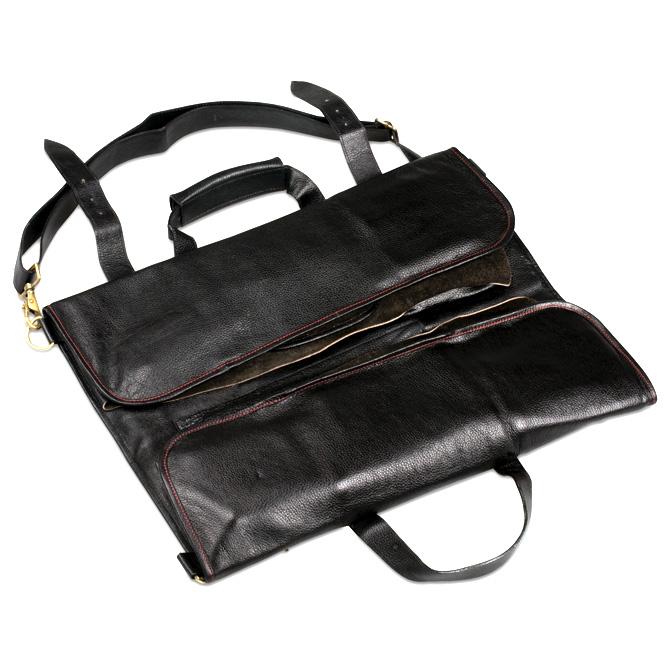 boldric black leather knife bag with 18 pockets. Black Bedroom Furniture Sets. Home Design Ideas