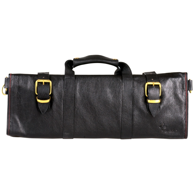 boldric black leather knife bag with 18 pockets. Black Bedroom Furniture Sets. Home Design Ideas