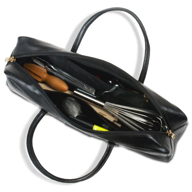 boldric chef black leather carryall. Black Bedroom Furniture Sets. Home Design Ideas