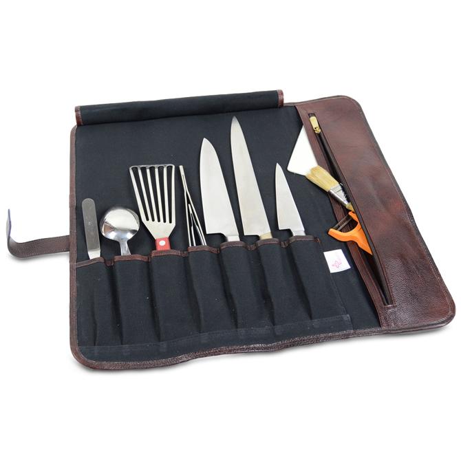 boldric olive d ring canvas knife roll 8 pockets. Black Bedroom Furniture Sets. Home Design Ideas