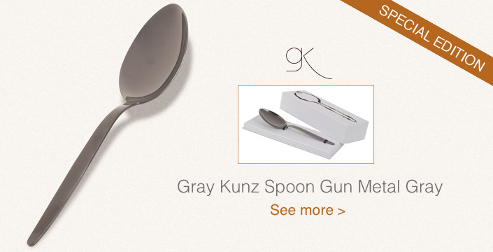 Gray Kunz Spoon Gun Metal Gray