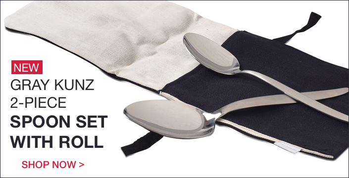 Gray Kunz 2 Piece Spoon Set with Roll