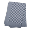 Black Check Side Towel 17.7 x 25.5 inches - 5 pack