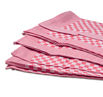 Red Check Side Towel 10 Pack 17.7