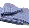 Premium Side Towel- 10 Pack Blue Check with Red Stripe 19.5