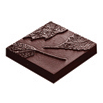 Square Leaf Tile Chocolate Mold, 8 Forms