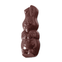 Laughing Rabbit Chocolate Mold, 16 Forms