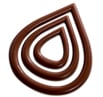 Chocolate Ornamental Mold - Triple Tear Drop