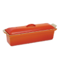 Enamelled Iron Terrine Mold - Flame