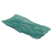 Sea Green Matte Glass Tray Rectangle