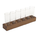 6 Column Glasses with Base