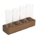 4 Column Glasses with Base