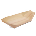 Poplar Wood Serving Boat - 8.5 x 4 x 1 inch