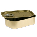 Rectangular Sardine Tin - 2 x 4 x 1 inches - 4oz.