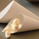 Comatec White Cardboard Cone - 4.75-inches height x 2.5-inches diameter