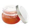 Comatec Mini Jam Pot with Metal Screw Top Lid 1 ounce