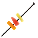 Comatec Black Plastic Screw Skewer 5.9 inch