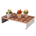 Wood and Brown Veneer Cone Holder Display 24 Holes