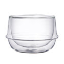 Kronos Double Walled Small Bowl 6.8 oz Glass