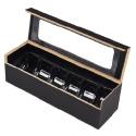 Wooden Macaroon Box with 6 Piece Divider