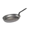 Heavy Oval French Steel  Fry Pan - 14 x 10.5 inch