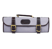Boldric Gray Canvas Knife Bag - 9 pocket