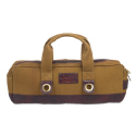 Boldric Chef Carryall Khaki Canvas with Brown Leather Trim