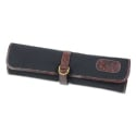 Boldric Black D-Ring Canvas Knife Roll - 8 Pockets