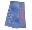 Premium Side Towel- Blue Check with Red Stripe 19.5 x 39.4 inches - 5 pack