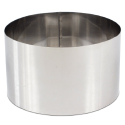 "High Stainless Steel Pastry Ring, 9.4"""" x 5.5"""""