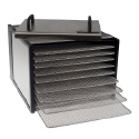Excalibur 9 Tray Deluxe Dehydrator with 26 Hour Timer - Stainless Steel Body and Drying Racks.