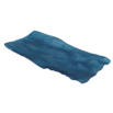Ocean Blue Matte Glass Tray Rectangle