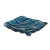 Ocean Blue Glass Tray Square