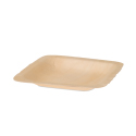 Square Poplar Wood Plate - 4.5 inch