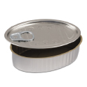 Comatec Oval Sardine Tin with Pull Tab Lid