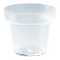 Frosted Flower Pot 4.23 oz Capacity