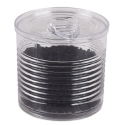 Plastic Transparent Tin Can with Lid, 2 oz.