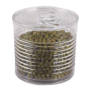 Plastic Transparent Tin Can with Lid, 3.7 oz.