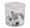 Plastic Transparent Tin Can with Lid, 7.4 oz.