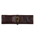 Boldric Brown Leather Knife Roll - 8 Pockets