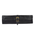 Boldric Black Leather Knife Roll - 8 Pockets