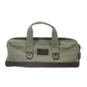 Boldrics Chef Carryall Green Canvas with Brown Leather Trim