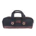 Boldric Chef Carryall Black Canvas with Brown Leather Trim