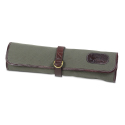 Boldric Olive D-Ring Canvas Knife Roll - 8 Pockets